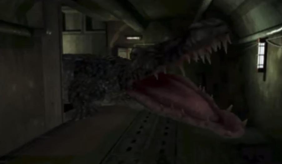 resident evil 2 original alligator fight